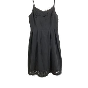 Dresses & Skirts - Black Cut-Out Appliqué Delicate Line Sun Dress